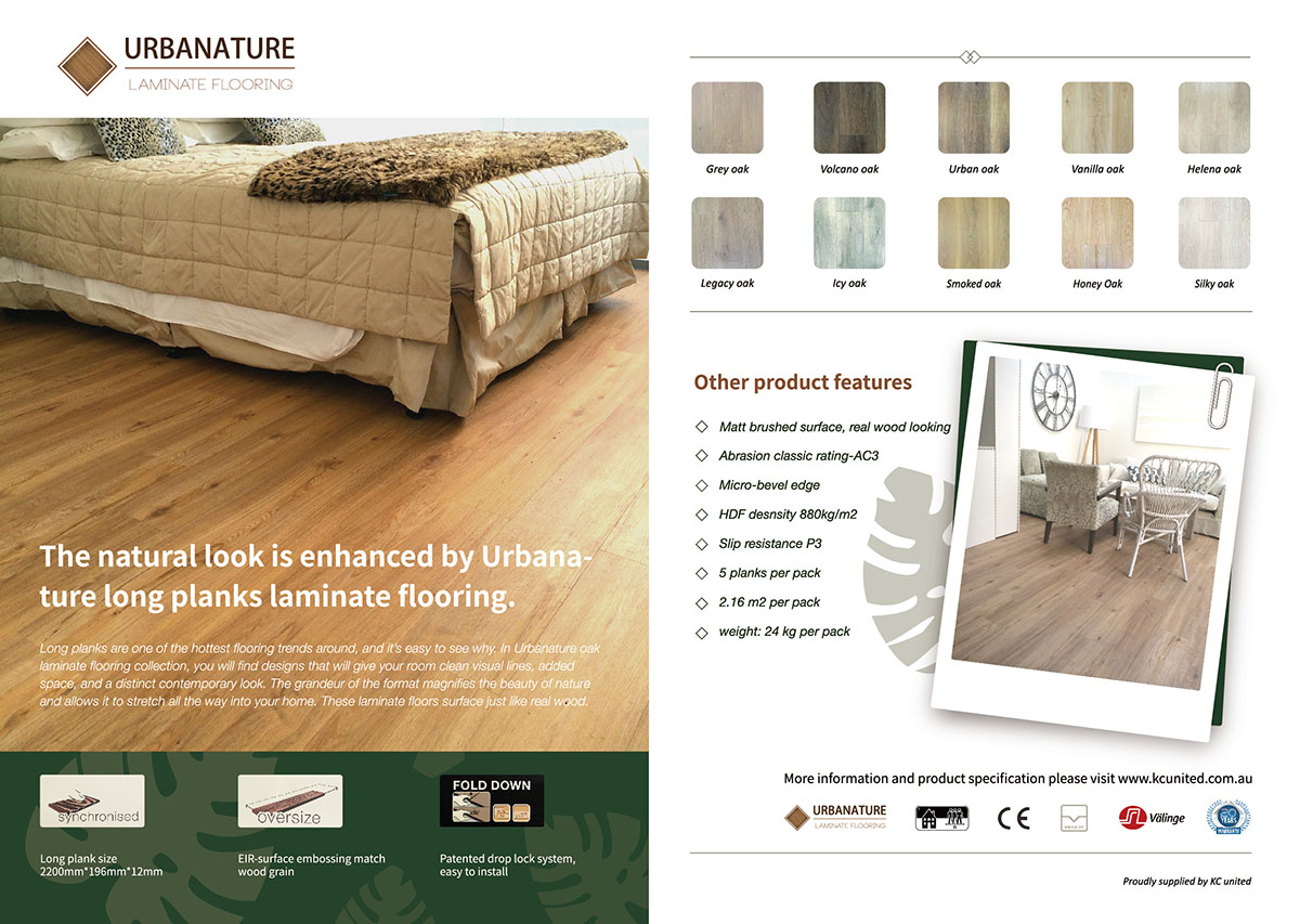 Laminate flooring brochure